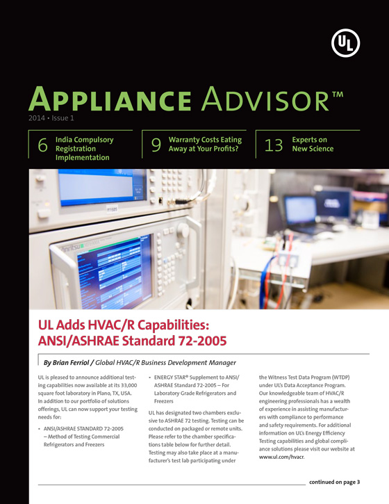 Appliance Advisor, 2014, Issue 1