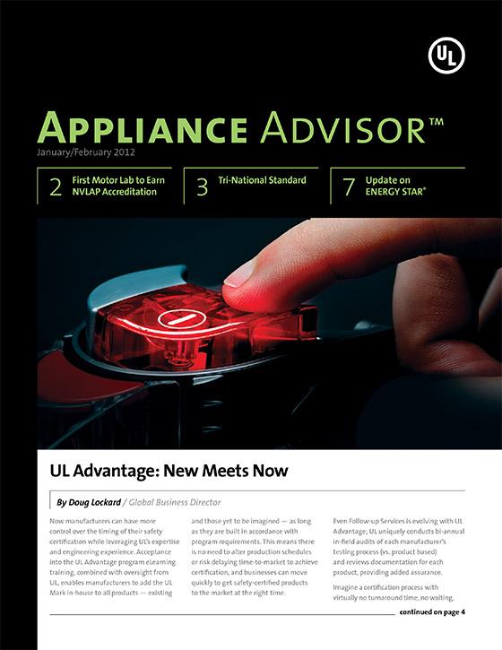 Appliance Advisor, 2012, Issue 1