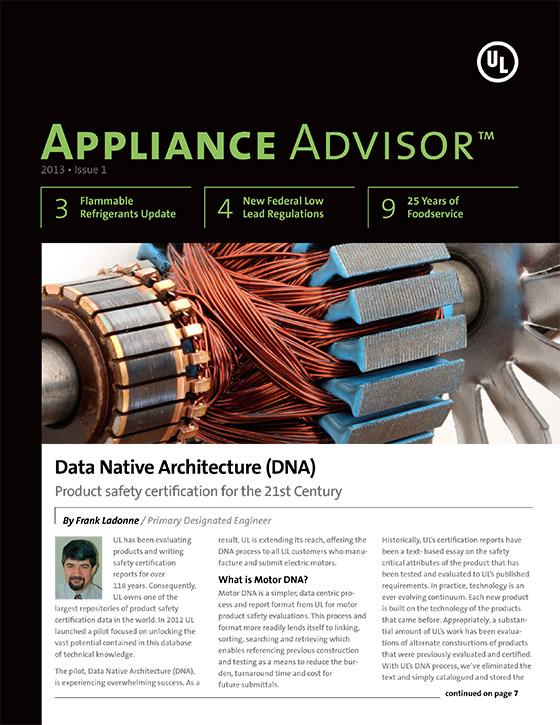 Appliance Advisor, 2013, Issue 1