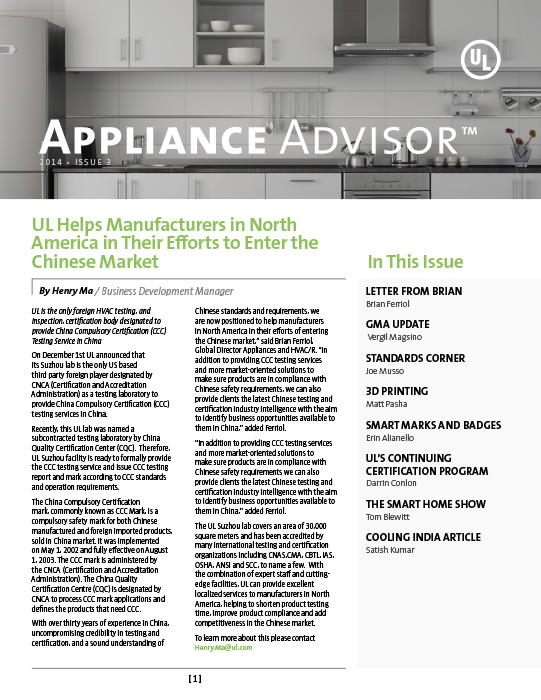 Appliance Advisor, 2014, Issue 3
