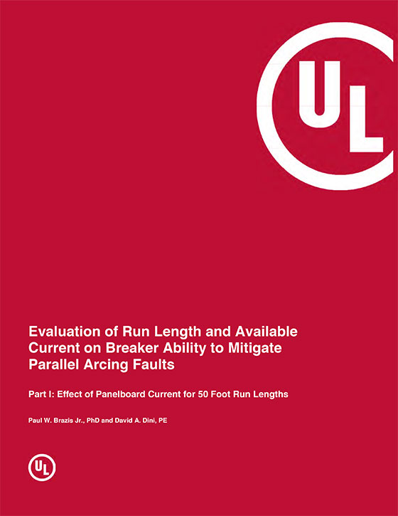 Evaluation of Run Length and Available Current on Breaker Ability to Mitigate Parallel Arcing Faults