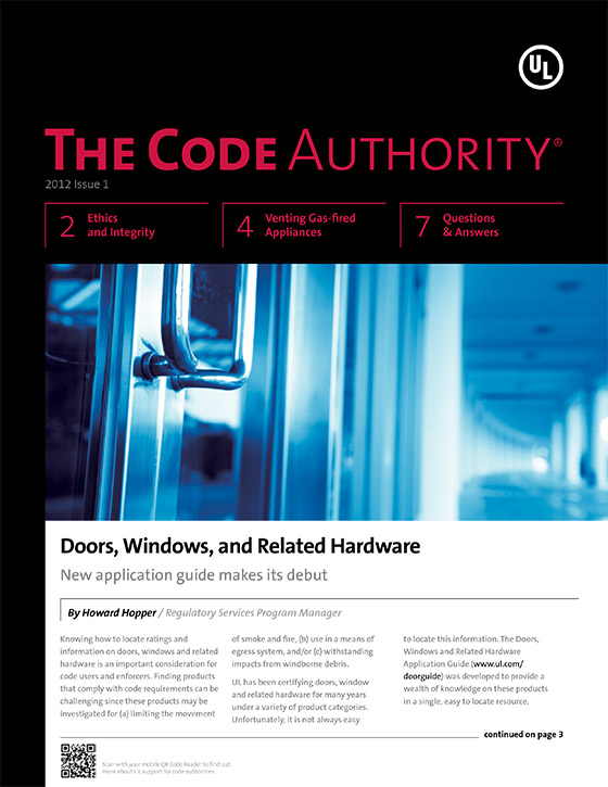 The Code Authority, 2012, Issue 1