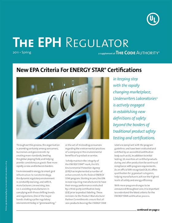 The EPH Regulator, 2011, Issue 1