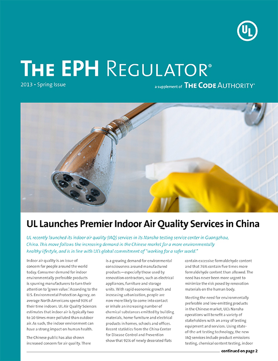The EPH Regulator, 2013 Issue 1