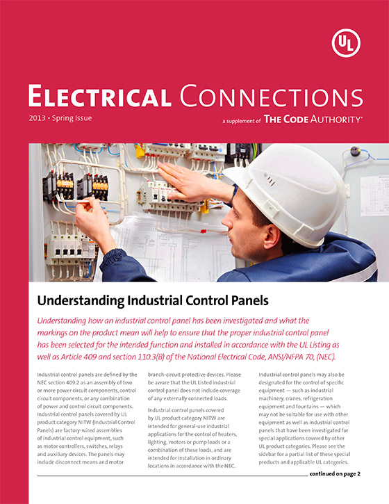 TCA: Electrical Connections, 2013, Issue 1