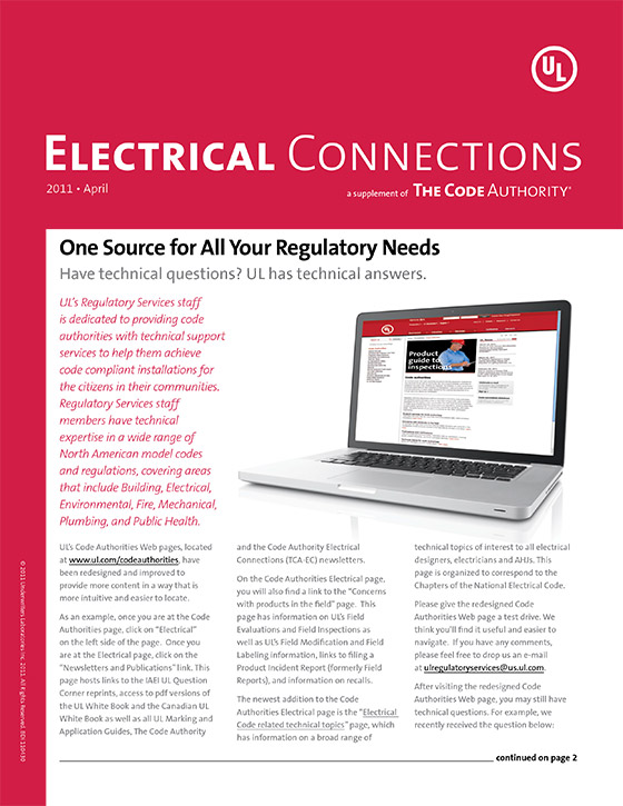 TCA: Electrical Connections, 2011, Issue 2