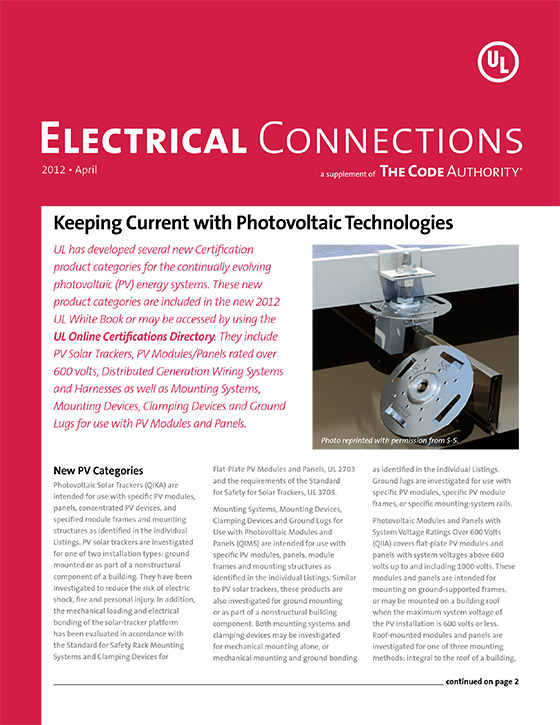 TCA: Electrical Connections, 2012, Issue 2