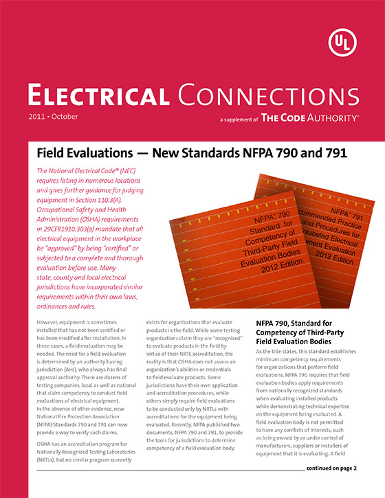 TCA: Electrical Connections, 2011, Issue 4