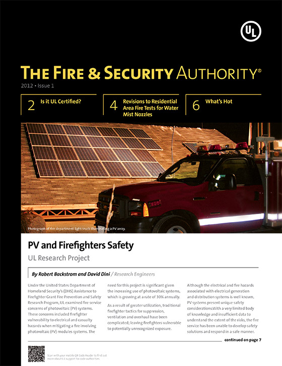The Fire & Security Authority, 2012, Issue 1