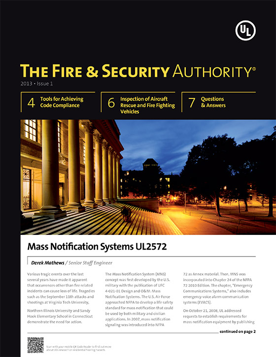 The Fire & Security Authority, 2013, Issue 1