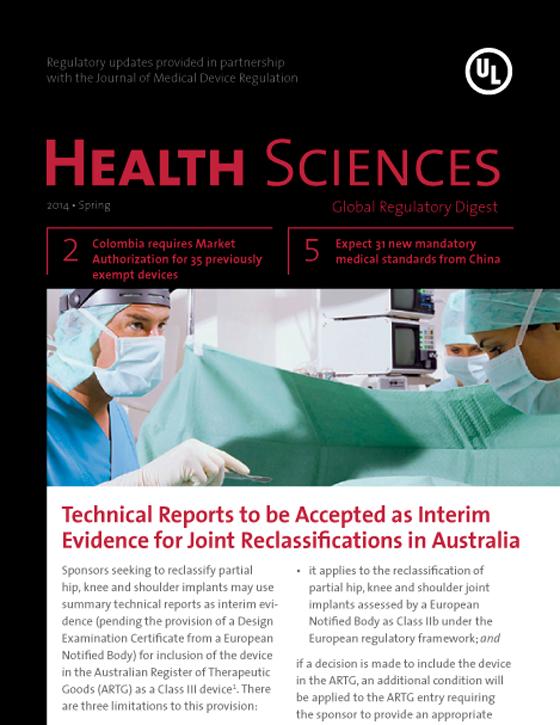 Health Sciences Global Regulatory Digest, Spring 2014 - Issue 9