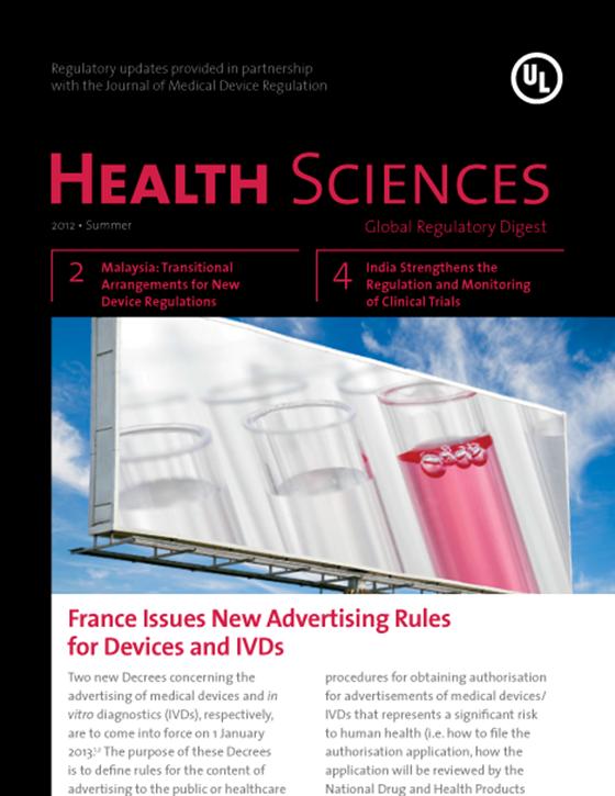 Health Sciences Global Regulatory Digest, Summer 2012 - Issue 5