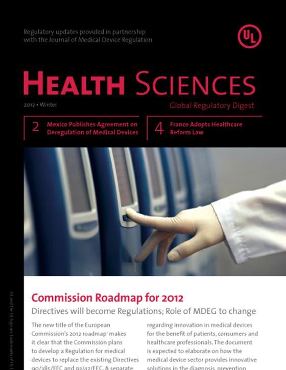 Health Sciences Global Regulatory Digest, Winter 2012 - Issue 3