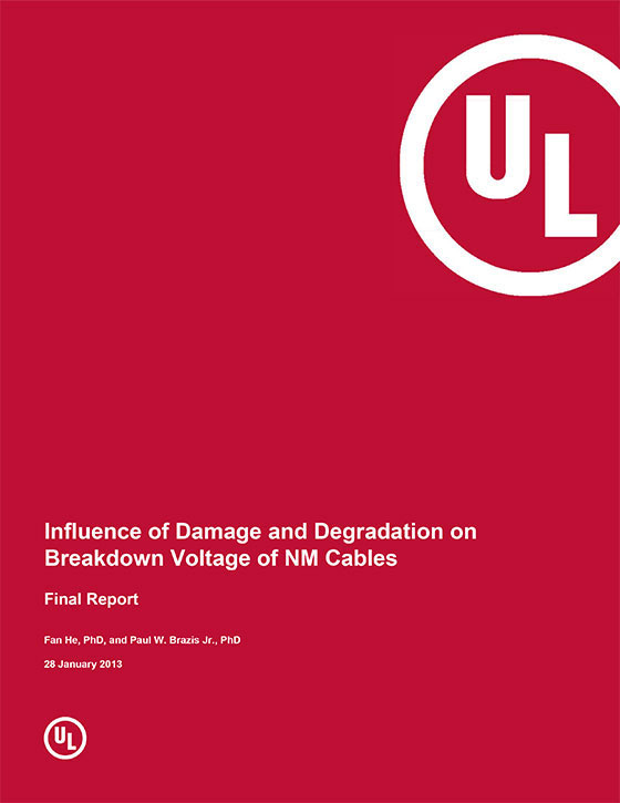 Influence of Damage and Degradation on Breakdown Voltage of NM Cables