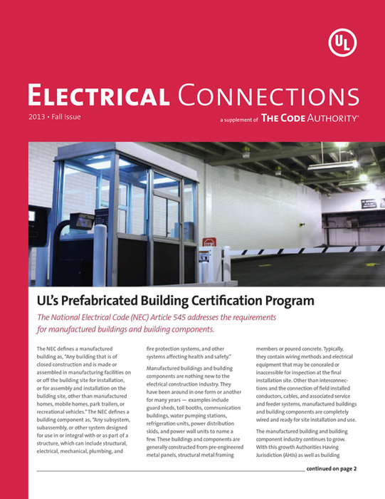 TCA: Electrical Connections, 2013, Fall