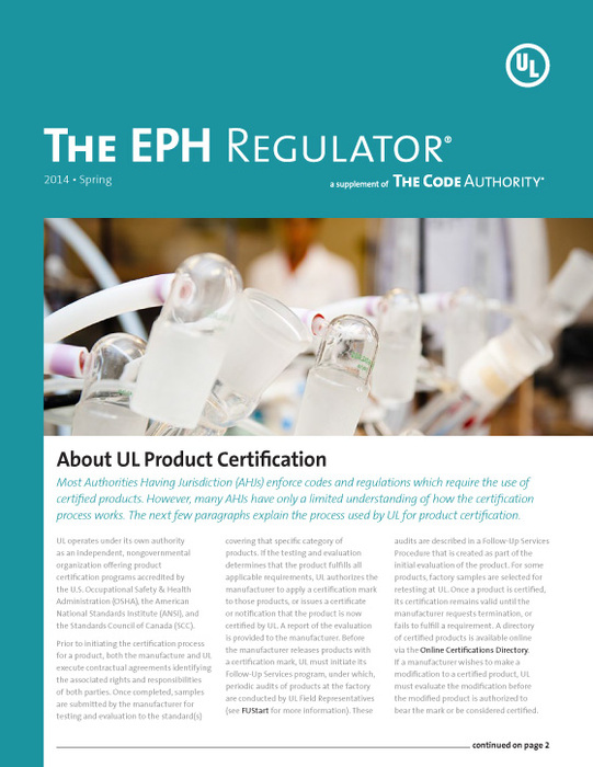 The EPH Regulator, 2014, Issue 1