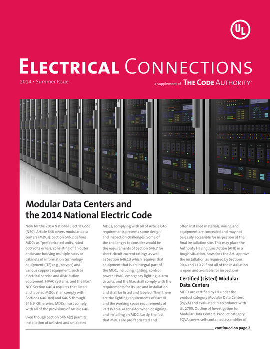 TCA: Electrical Connections, 2014, Summer
