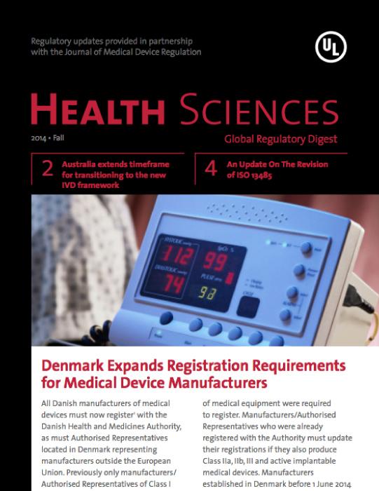 Health Sciences Global Regulatory Digest - Fall 2014 - Issue 11