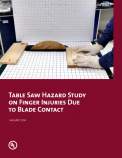 Table Saw Hazard Study on Finger Injuries Due to Blade Contact