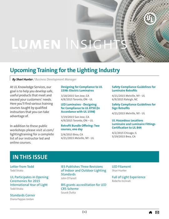 Lumen Insights, 2015, Issue 1
