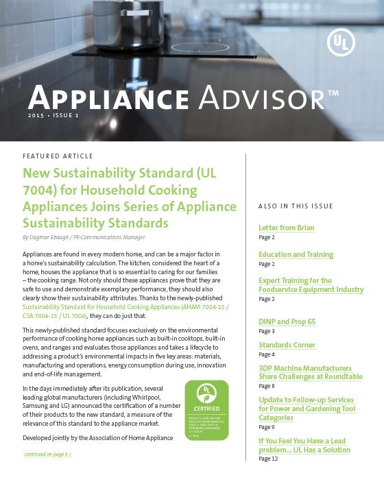 Appliance Advisor, 2015, Issue 1