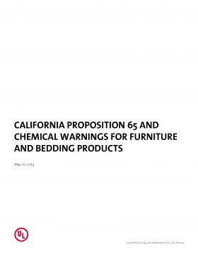 California Proposition 65 and Chemical Warnings for Furniture and Bedding Products