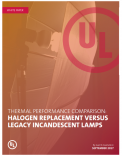 Thermal Performance Comparison: Halogen Replacement Versus Legacy Incandescent Lamps